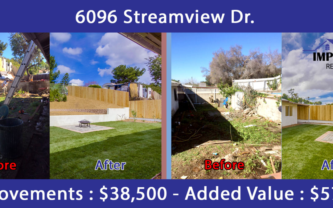 Completed Improvement Project – 6096 Streamview Dr. San Diego, CA